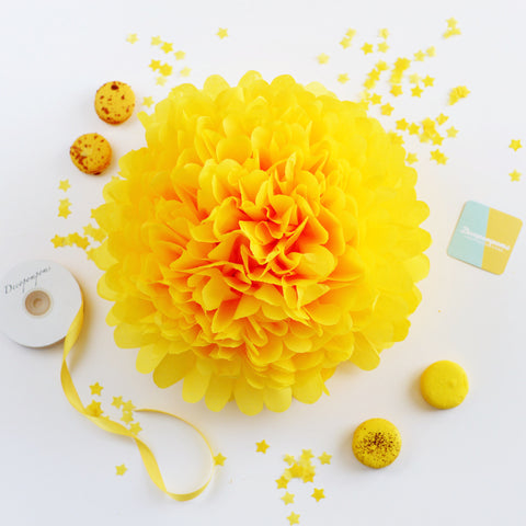 Buttercup tissue paper pom pom