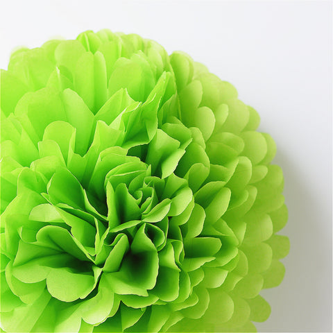 Large Citrus green tissue paper pom pom