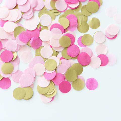 Confetti - Pink And Gold Confetti - Tissue Paper - Biodegradable