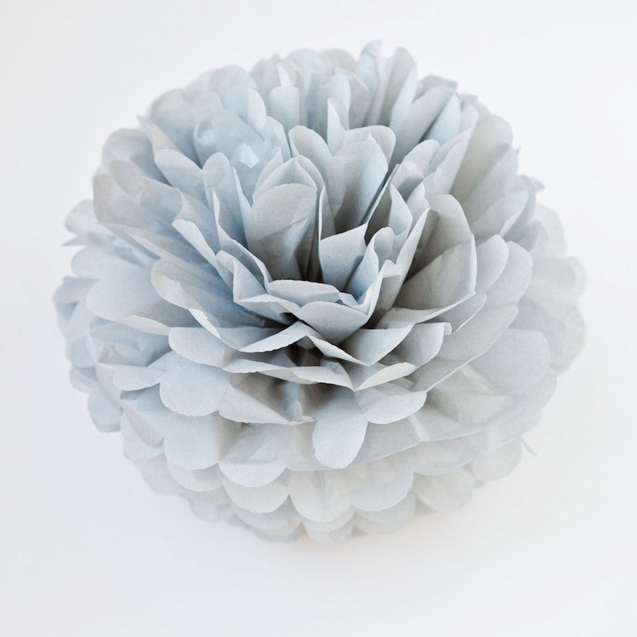 Large size light grey tissue paper pom pom