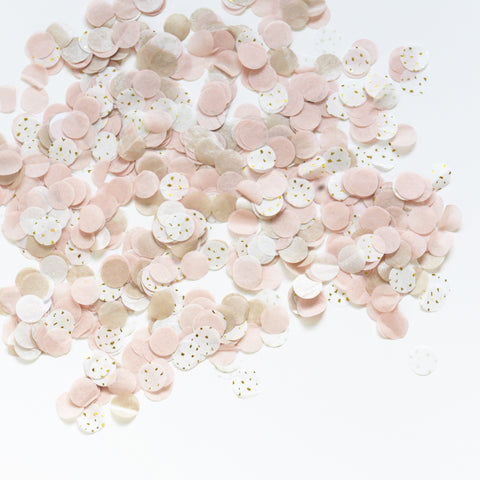 Dusty blush and champagne  confetti - tissue paper - biodegradable -wedding party decorations