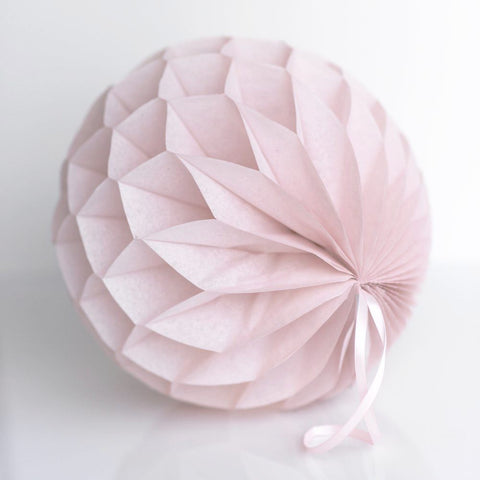 Dusty pink / dusty blush tissue paper honeycomb - hanging party decorations