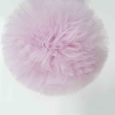 Dusty pink tulle pom pom