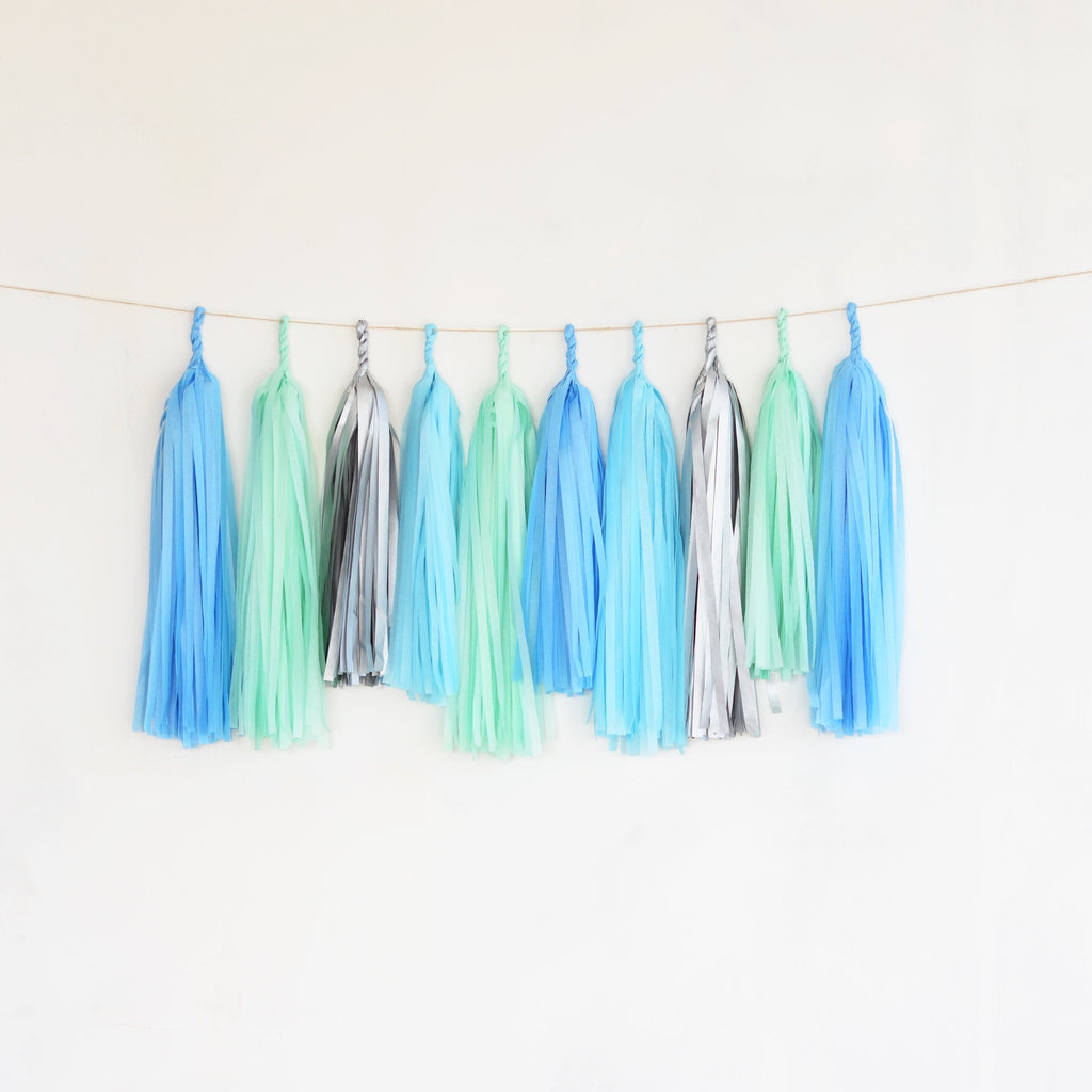 Frozen tassel garland - various lengths - Decopompoms - party decoration boutique