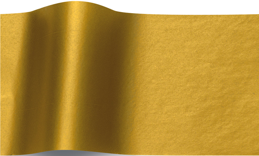 Double sided Metallic gold tissue paper 70x50cm - 10 sheets