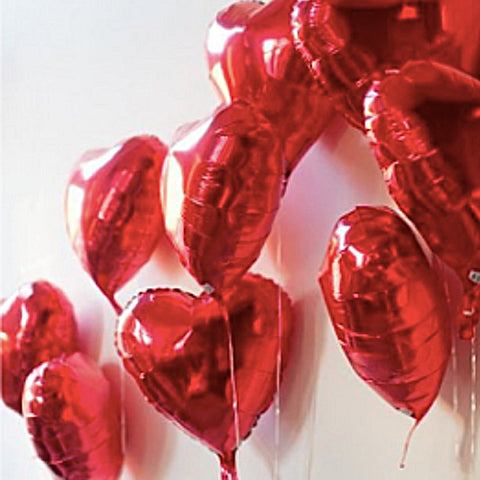 Red Heart Foil Balloon 18