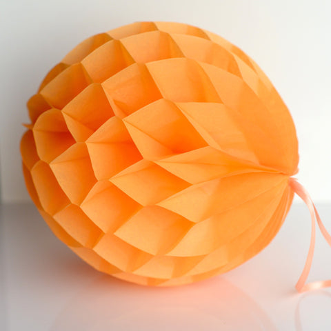 Apricot paper honeycomb - hanging party decorations - Decopompoms - party decoration boutique