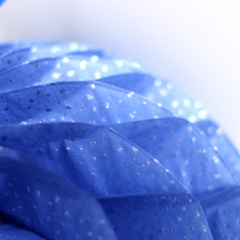 Blue reflections honeycomb - Decopompoms - party decoration boutique
