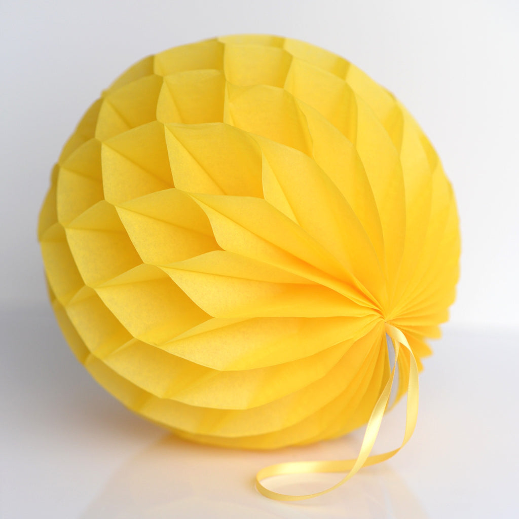 Honeycomb - Buttercup Paper Honeycomb - Hanging Party Decorations