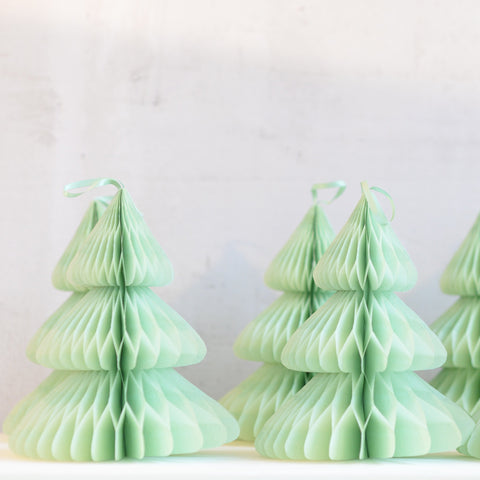 Christmas tree - Paper Honeycomb  - custom color - 12