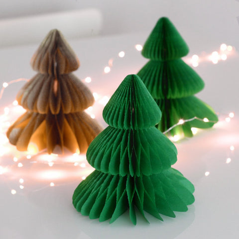 Christmas tree - Paper Honeycomb  - custom color - 8
