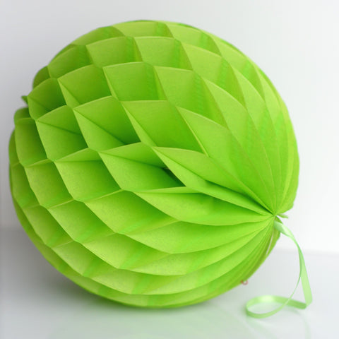Citruss green paper honeycomb - hanging party decorations - Decopompoms - party decoration boutique