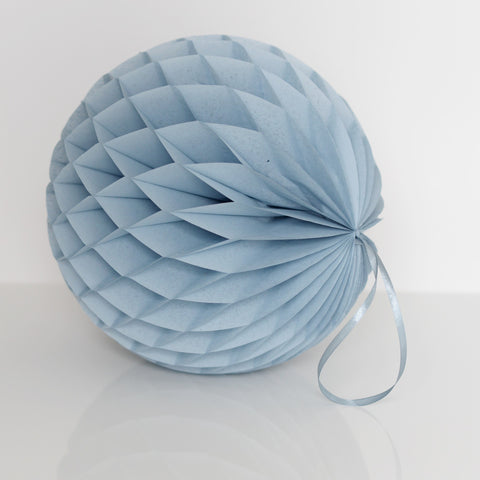 Honeycomb - Dusty Blue / Vintage Blue Tissue Paper Honeycomb - Hanging Party Decorations