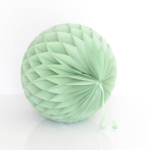 Dusty green / vintage green tissue paper honeycomb - hanging party decorations - Decopompoms - party decoration boutique