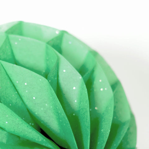 Gemstone  Emerald green paper honeycomb - hanging party decorations - Decopompoms - party decoration boutique