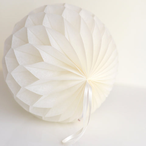 Honeycomb - Ivory Paper Honeycomb - Hanging Party Decorations