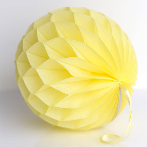 Honeycomb - Light Yellow Paper Honeycomb - Hanging Party Decorations