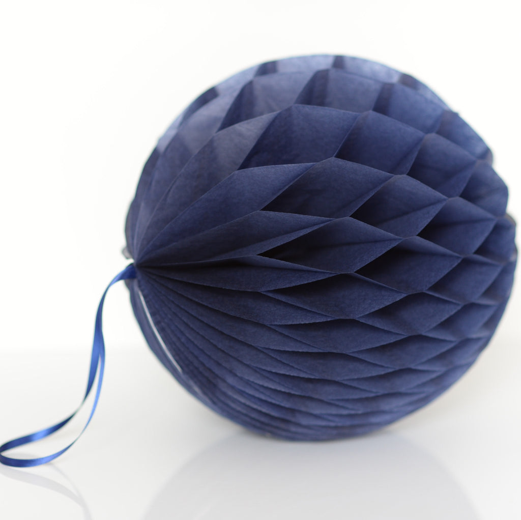Honeycomb - Navy Blue Paper Honeycomb - Hanging Party Decorations