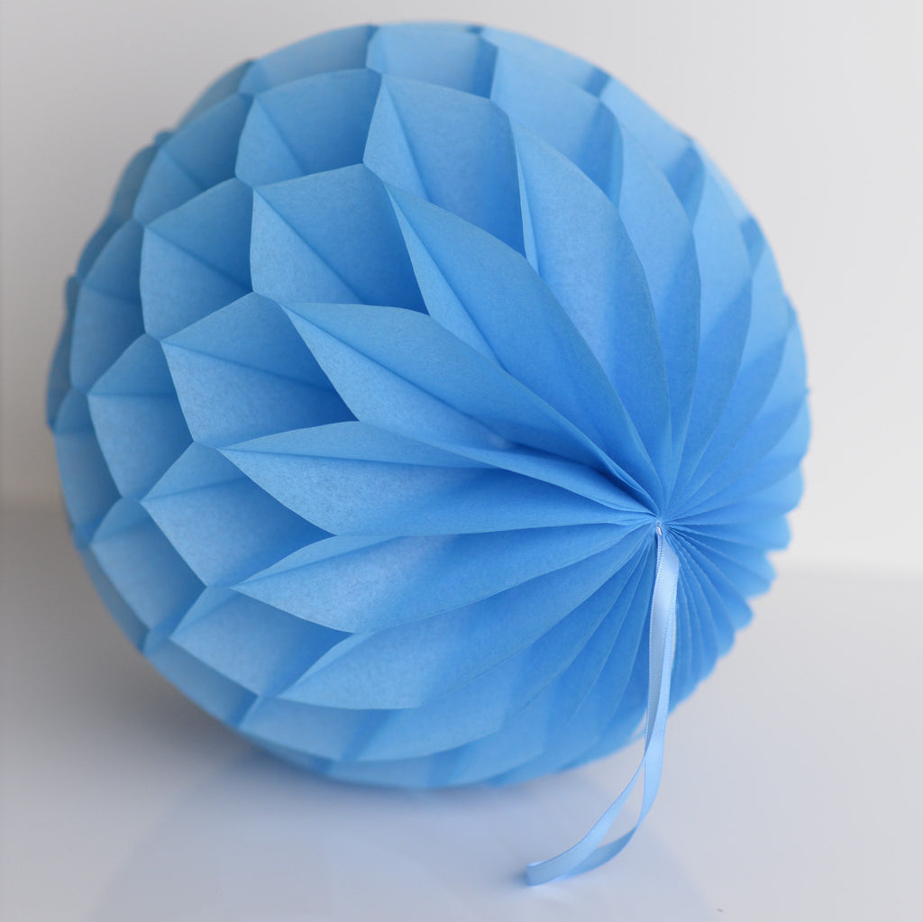Honeycomb - Pacific Blue Paper Honeycomb - Hanging Party Decorations