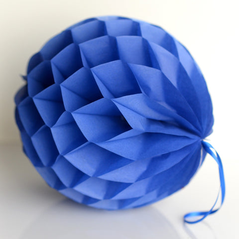 Honeycomb - Parade Blue Paper Honeycomb - Hanging Party Decorations
