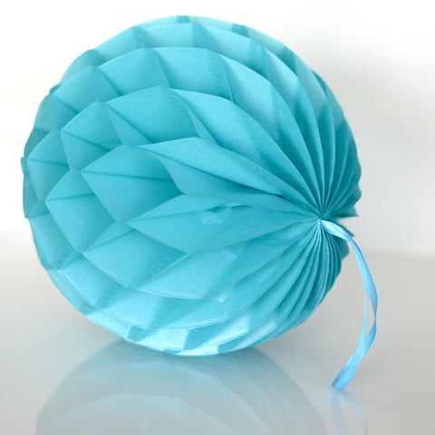 Honeycomb - Pearlesence  Bright Turquoise Paper Honeycomb - Hanging Party Decorations