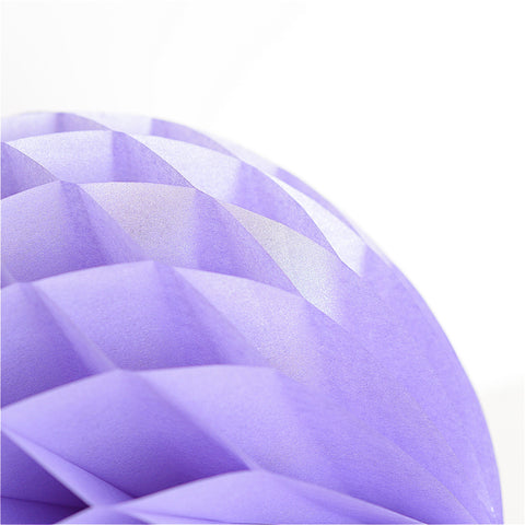 Honeycomb - Pearlesence Lavender Paper Honeycomb - Hanging Party Decorations