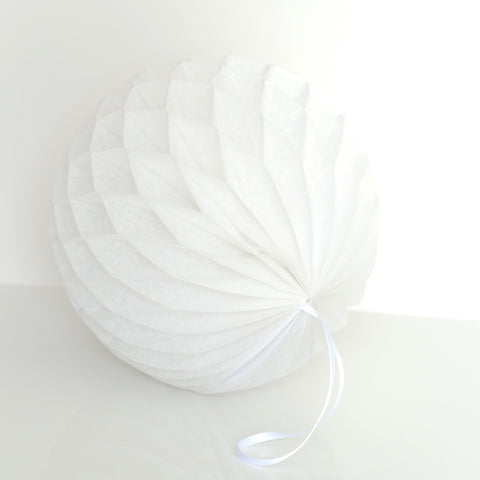 Honeycomb - Pearlesence Pearl White Paper Honeycomb - Hanging Party Decorations