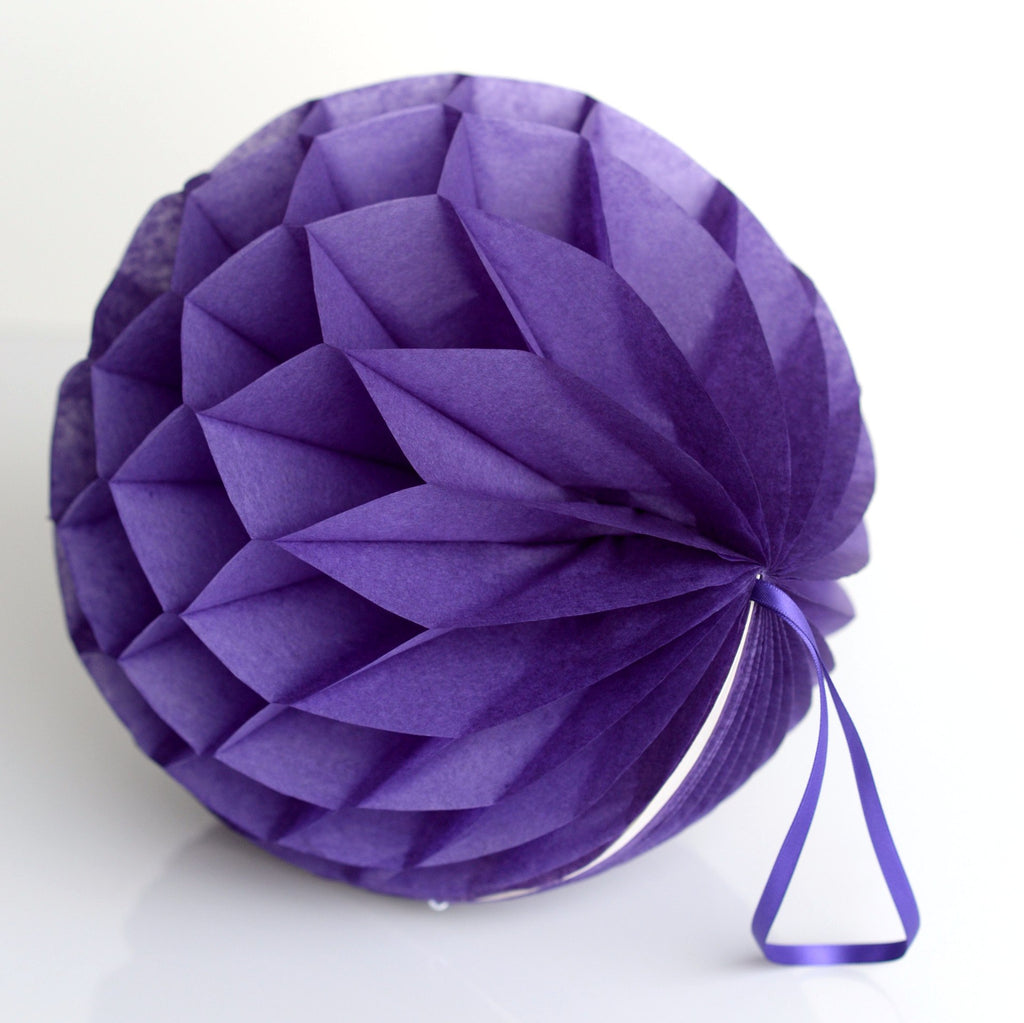 Honeycomb - Purple Paper Honeycomb - Hanging Party Decorations