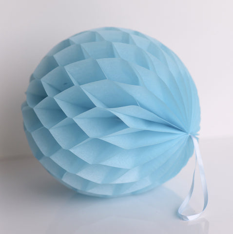 Honeycomb - Sky Blue Paper Honeycomb - Hanging Party Decorations