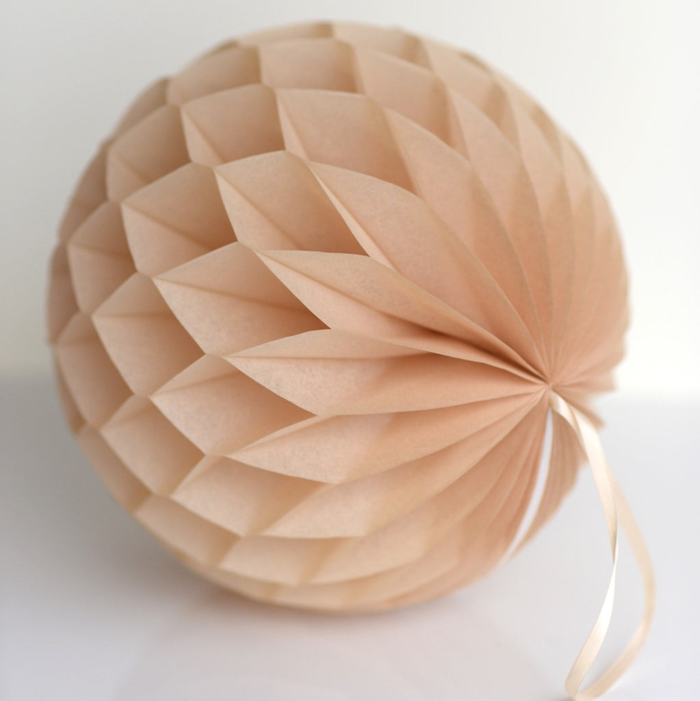 Honeycomb - Tan Paper Honeycomb - Hanging Party Decorations