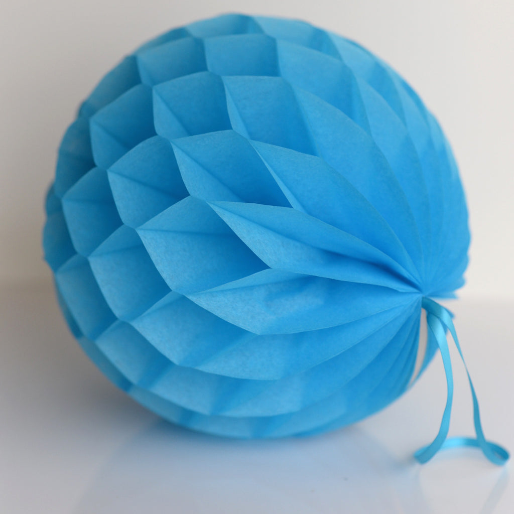 Honeycomb - Turquoise Paper Honeycomb - Hanging Party Decorations