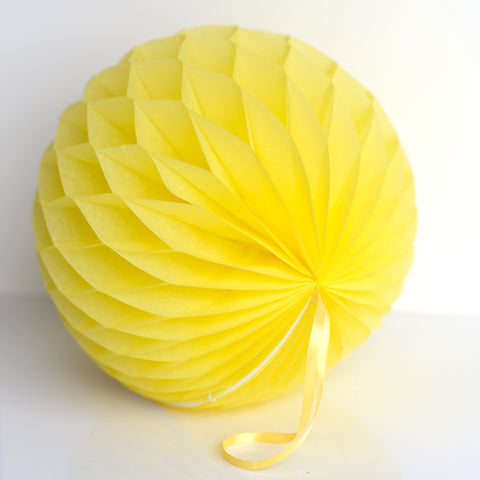 Honeycomb - Yellow Paper Honeycomb - Hanging Party Decorations