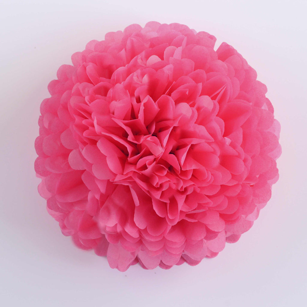 Large size honeysuckle tissue paper pom pom