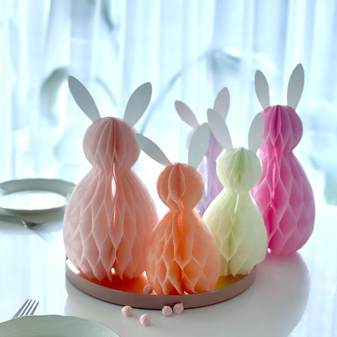 Paper honeycomb bunny set