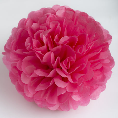Large size island pink tissue paper pom pom