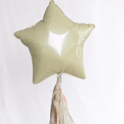Ivory Star Foil Balloon 20