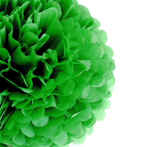 Kelly green tissue paper pom pom