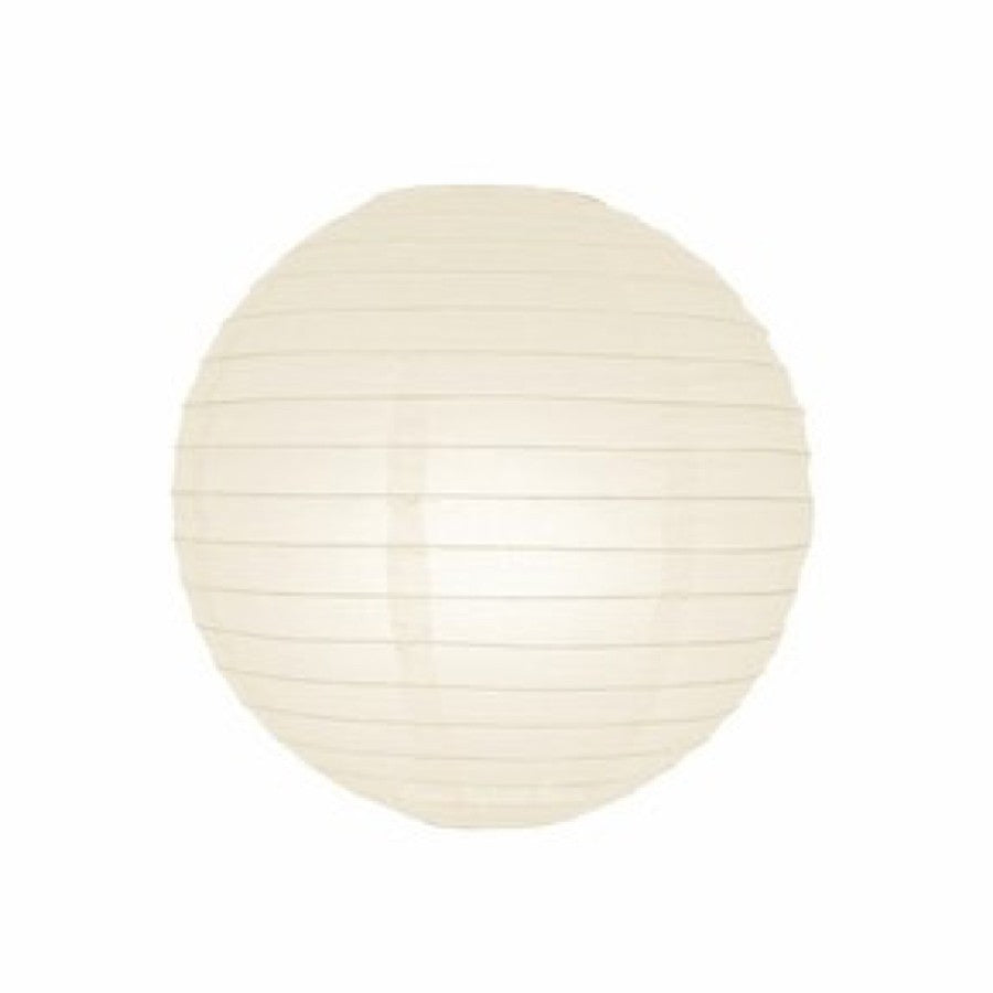 12 Inch Ivory Round Lantern with LED light / no led light - Decopompoms - party decoration boutique