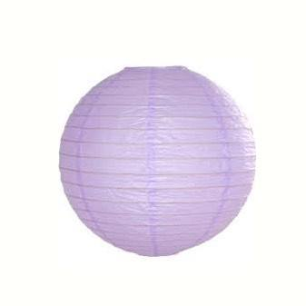 12 Inch Lavender Round paper lantern with LED light / no led light - Decopompoms - party decoration boutique