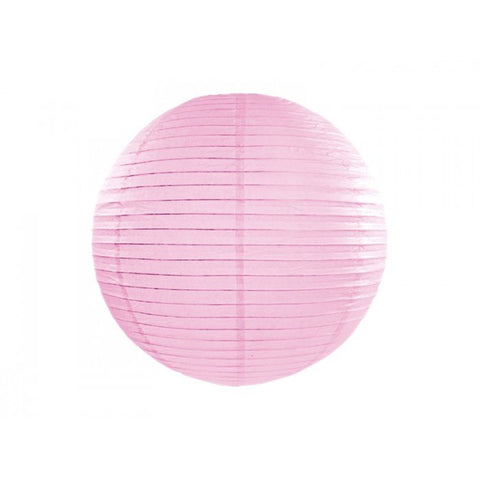 Lantern - 12 Inch Pink Round Paper Lantern  With LED Light / No Led Light