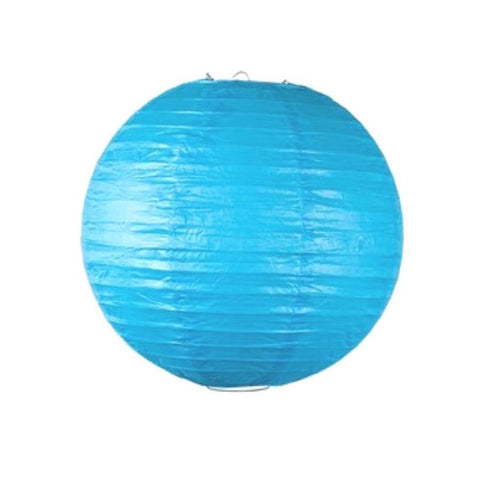 12 Inch Turquoise Round Paper Lantern with LED light / no led light - Decopompoms - party decoration boutique