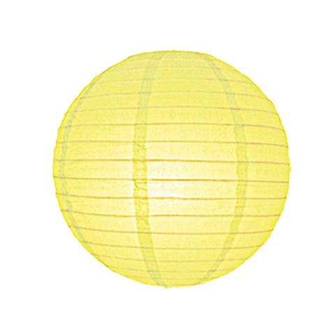 12 Inch Yellow Round Lantern with LED light / no led light - Decopompoms - party decoration boutique