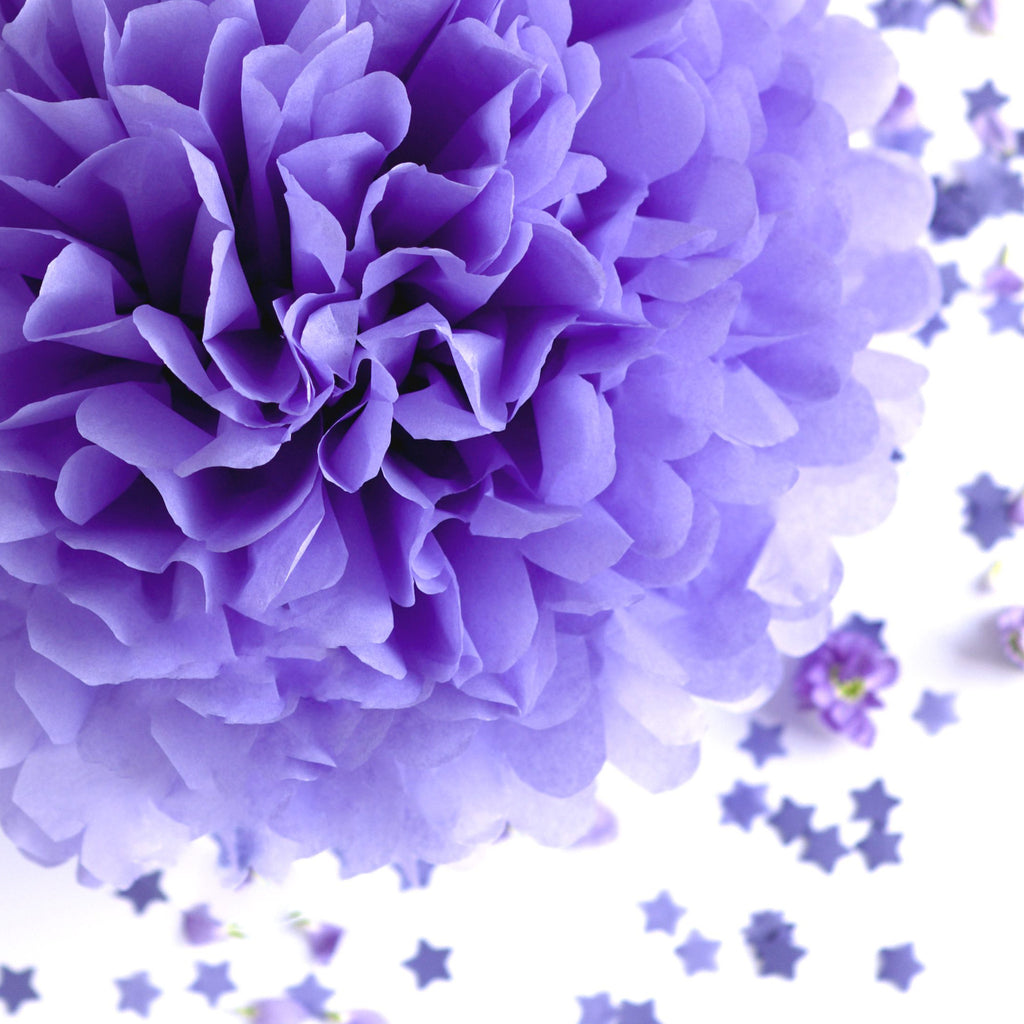 Large size pansy tissue paper pom pom