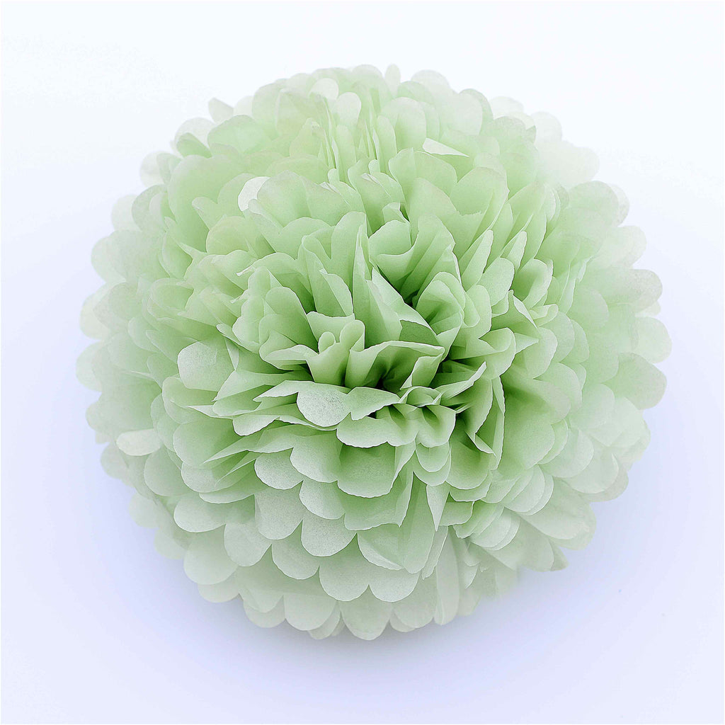 Small 22cm Light green green tissue paper pom pom