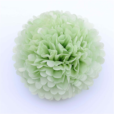 Large Light green green tissue paper pom pom
