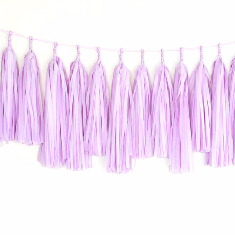All lilac tassel garland - various lengths