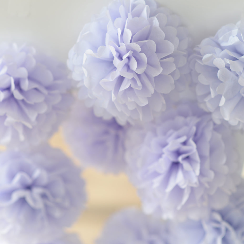 Mini size 15 cm / 6 inch pom poms value set