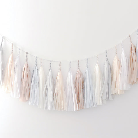 All neutral tassel garland - various lengths