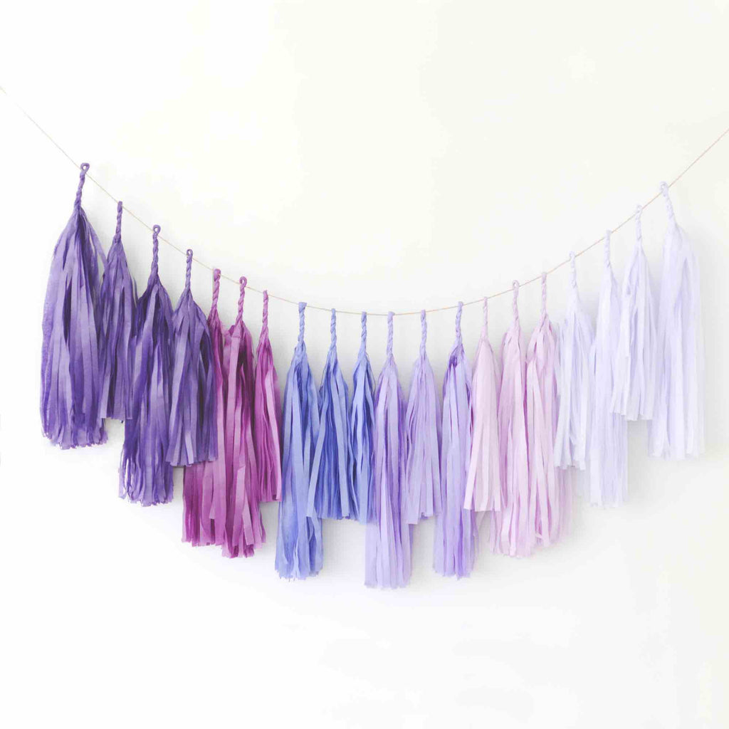 OMBRE PURPLE tassel garland