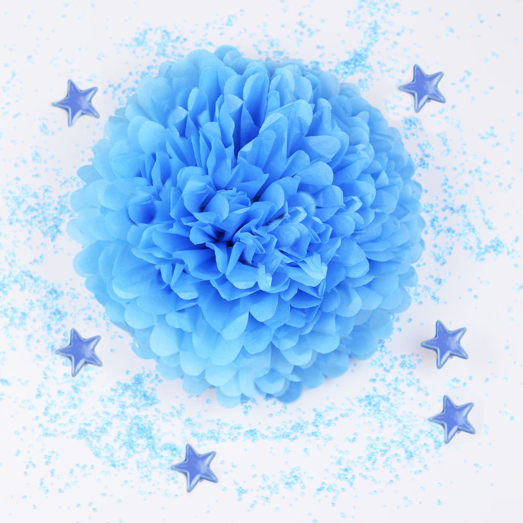 Pacific blue tissue paper pom pom